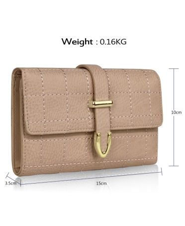 LS Fashion béžová dámská peněženka 1075A LSP1075A_NUDE