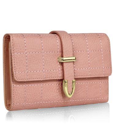 LS Fashion růžová dámská peněženka 1075A LSP1075A_PINK