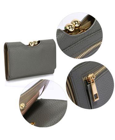 LS Fashion šedá dámská peněženka 1065 LSP1065A_GRAY