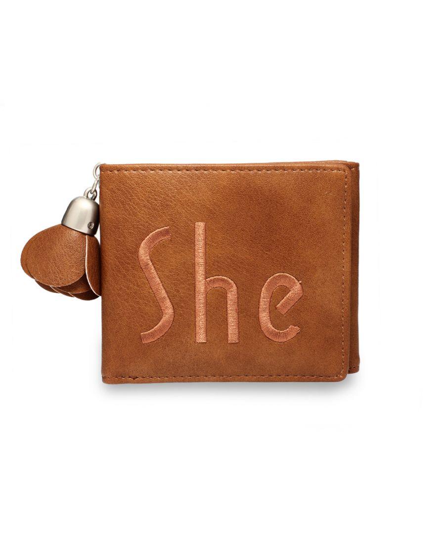 Anna Grace hnědá peněženka s přívěškem 1104 AGP1104_TAN