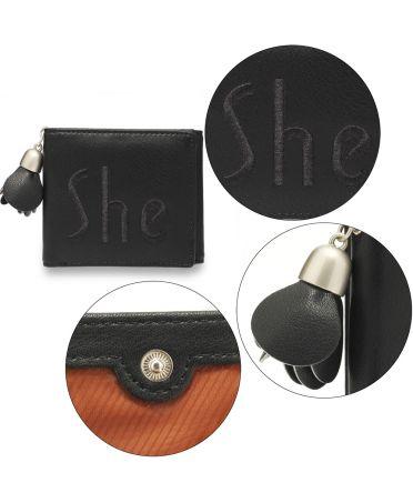 Anna Grace černá peněženka s přívěskem 1104 AGP1104_BLACK
