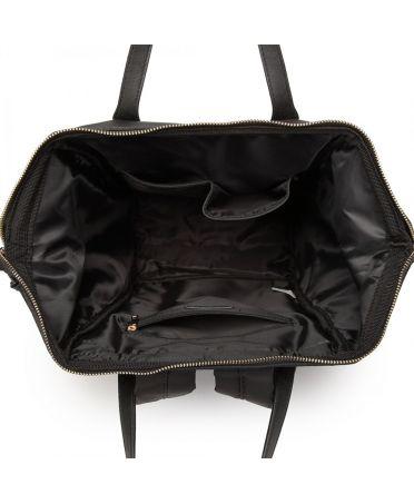Miss Lulu černý dámský batoh nylonový školní taška 6840 LT6840_BK