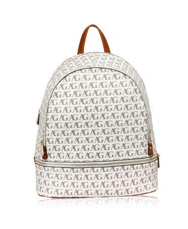 Anna Grace bílý elegantní batoh s potiskem 533 AG00533_WHITE