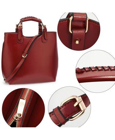 Anna Grace vínově červená tote kabelka do ruky i přes rameno 267 AG00267_BURGUNDY