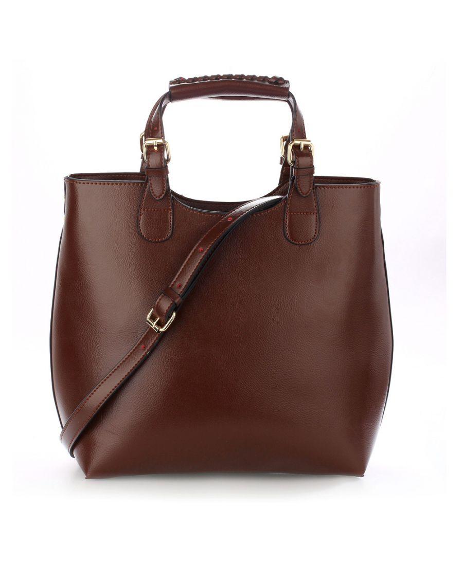Anna Grace kávově hnědá tote kabelka do ruky i přes rameno 267 AG00267_COFFEE