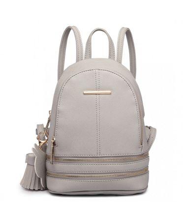 Miss Lulu luxusní malý šedý dámský batoh 1705 LT1705_GY