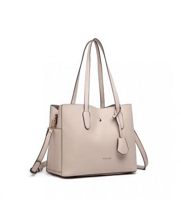 Miss Lulu luxusní béžová kabelka 1902 LG1902_BG