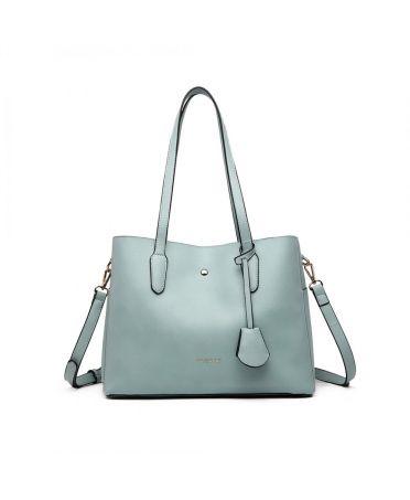 Miss Lulu luxusní světle modrá kabelka 1902 LG1902_BE