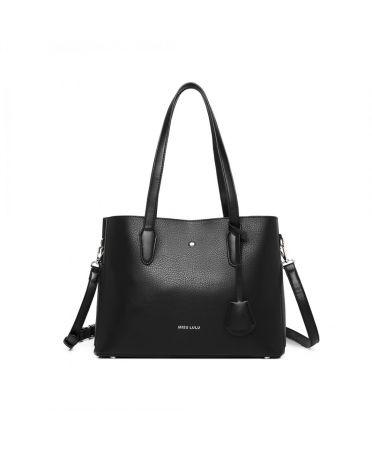Miss Lulu luxusní černá kabelka 1902 LG1902_BK