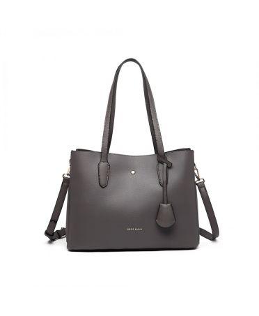 Miss Lulu luxusní šedá kabelka 1902 LG1902_GY
