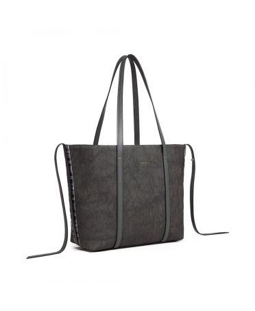 Miss Lulu šedá tvarovatelná shopper kabelka 1922 LG1922_GY