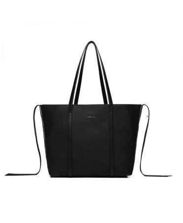 Miss Lulu černá tvarovatelná shopper kabelka 1922 LG1922_BK