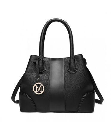 Miss Lulu elegantní černá tote kabelka 1822 LT1822_BK