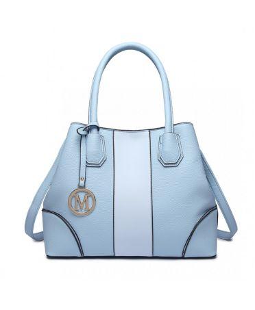 Miss Lulu elegantní světle modrá tote kabelka 1822 LT1822_BE