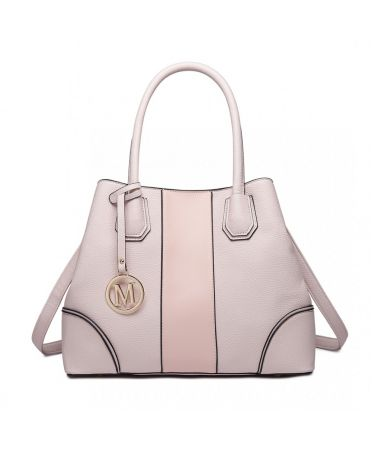 Miss Lulu elegantní růžová tote kabelka 1822 LT1822_PK