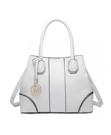 Miss Lulu elegantní bílá tote kabelka 1822 LT1822_WE