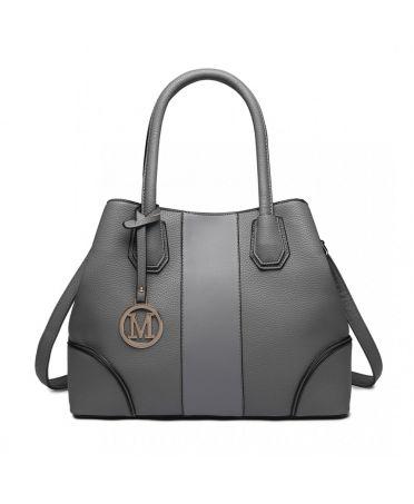 Miss Lulu elegantní šedá tote kabelka 1822 LT1822_GY