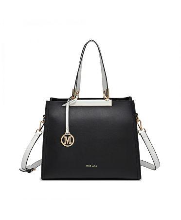 Miss Lulu černá kabelka CLASSIC SIMPLE 1907 LG1907_BK