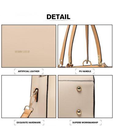 Miss Lulu béžová kabelka CLASSIC SIMPLE 1907 LG1907_BG