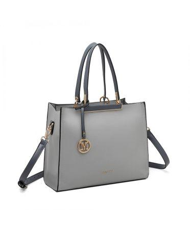Miss Lulu šedá kabelka CLASSIC SIMPLE 1907 LG1907_GY