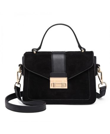 Miss Lulu černá kabelka MIDI MATTE 6872 LB6872 BK