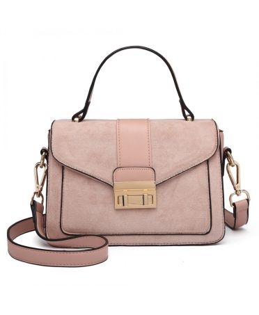 Miss Lulu růžová kabelka MIDI MATTE 6872 LB6872 PK