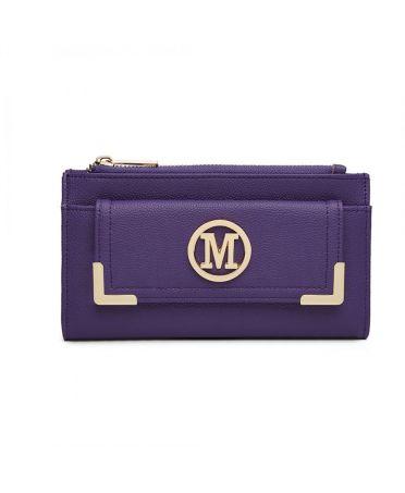 Miss LuLu fialová dámská peněženka M METAL LOGO 6882 LP6882_PE