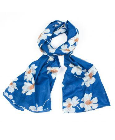 Saffron & Co modrý dámský maxi šátek Olive 1353 wd1353c12_BLUE