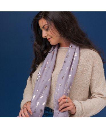 Hazel & Pip růžový dámský šátek Foil Arrow 1835 sg1835c26