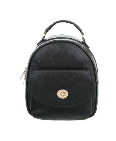 Dudlin Firenze černý dámský batoh s krajkovanou kapsou 7820 tam7820bk