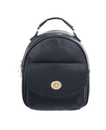 Dudlin Firenze tmavě modrý dámský batoh s krajkovanou kapsou 7820 tam7820be