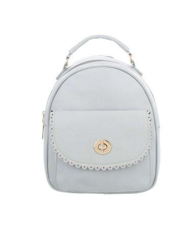 Dudlin Firenze světle šedý dámský mini batoh s krajkovanou kapsou 7820 tam7820lgy