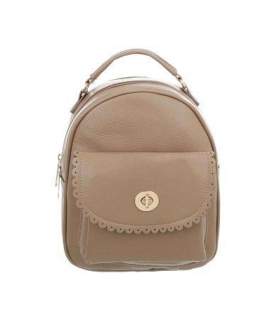 Dudlin Firenze béžový dámský batoh s krajkovanou kapsou 7820 tam7820ki
