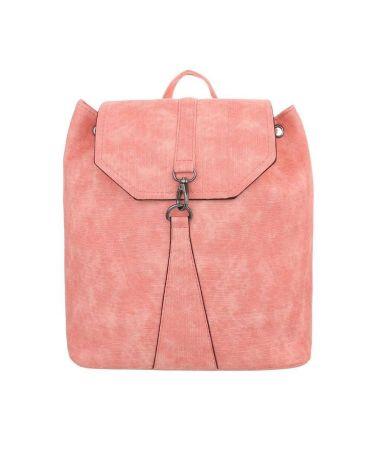 Dudlin Firenze růžový dámský batoh s karabinkou 589 tac589rose