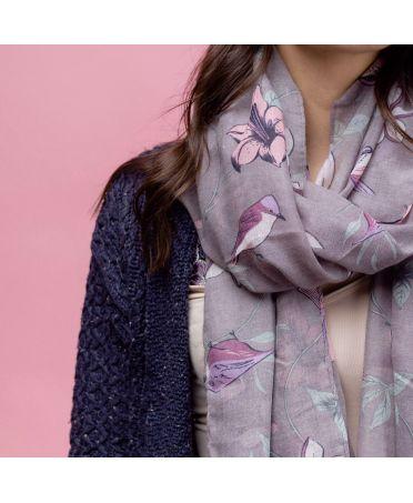 Hazel & Pip dámský hnědý maxi šátek Rosalyn 2200 zc2200c26
