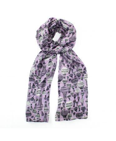 Hazel & Pip dámský fialový maxi šátek Balloon Flight 2226 rh2226c07