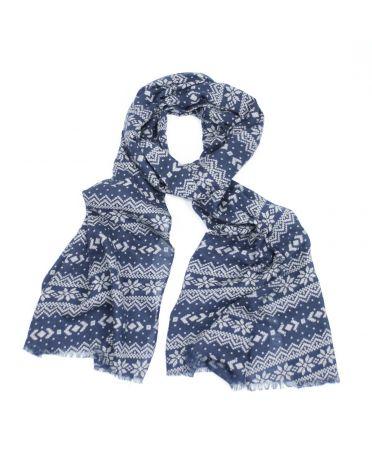 FJ Collection modrý dámský maxi šátek Jean 762 sg0762c02