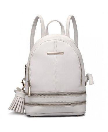 Miss Lulu luxusní malý bílý dámský batůžek 1705 LT1705WE