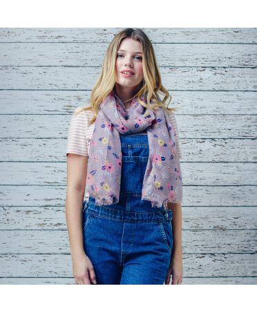 Hazel & Pip šedý maxi šátek Christine 201 zd0201c61
