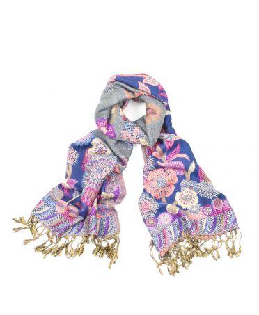 Hazel & Pip fialový maxi šátek Rhiana 737 sf0737c03