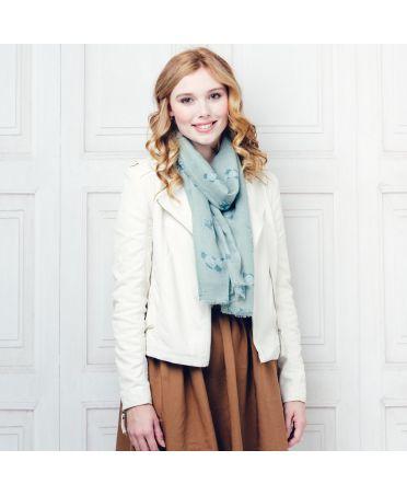 Hazel & Pip zelený dámský maxi šátek Vera 165 zc0165c03