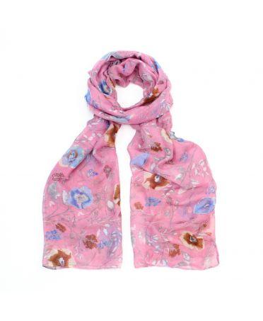 Poppy růžový dámský maxi šátek Floral 3211 xb3211c07