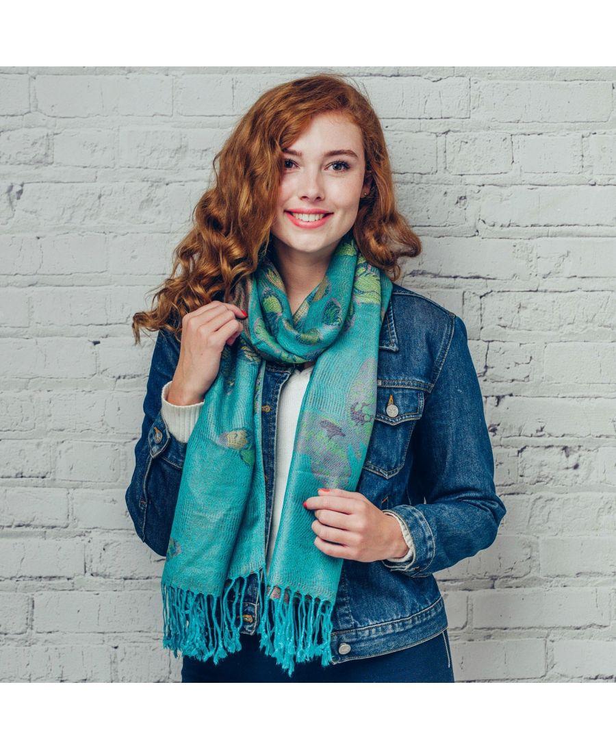 Hazel & Pip zelený dámský maxi šátek Deena 736 sf0736