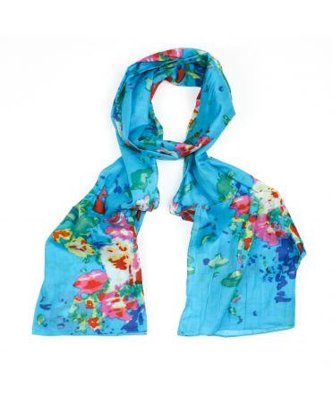 Saffron & Co tyrkysový dámský maxi šátek Valerie 1350 wd1350c13