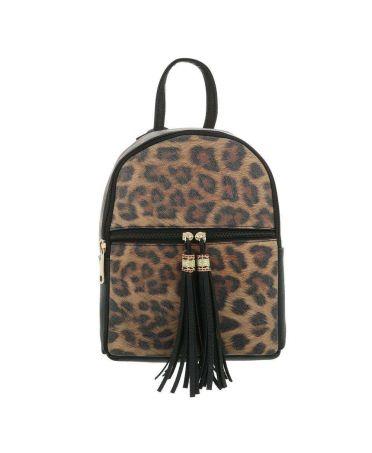Dudlin Firenze černý dámský batoh Leopard 5160a ta516046abk