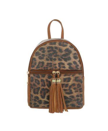 Dudlin Firenze hnědý dámský batoh Leopard 5160a ta516046abn