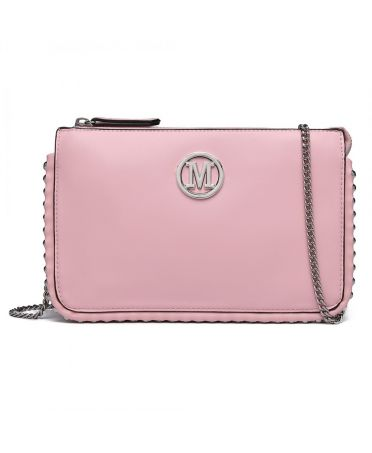 Miss Lulu růžová crossbody chain around 6819 LT6819_PK