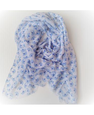 FJ Collection bílý dámský šátek 2206 zd2206c02