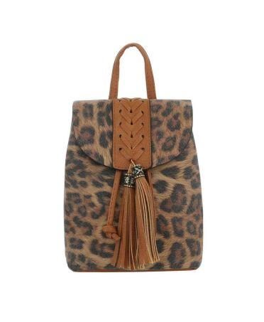 Dudlin Firenze hnědý dámský mini batůžek Leopard 516048 ta516048bn