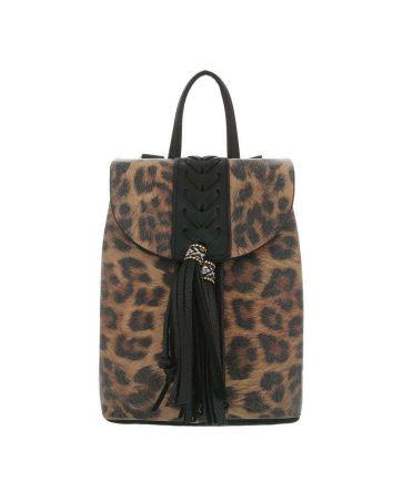 Dudlin Firenze černý dámský mini batůžek Leopard 516048 ta516048bk